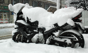 winter motorcycle riding